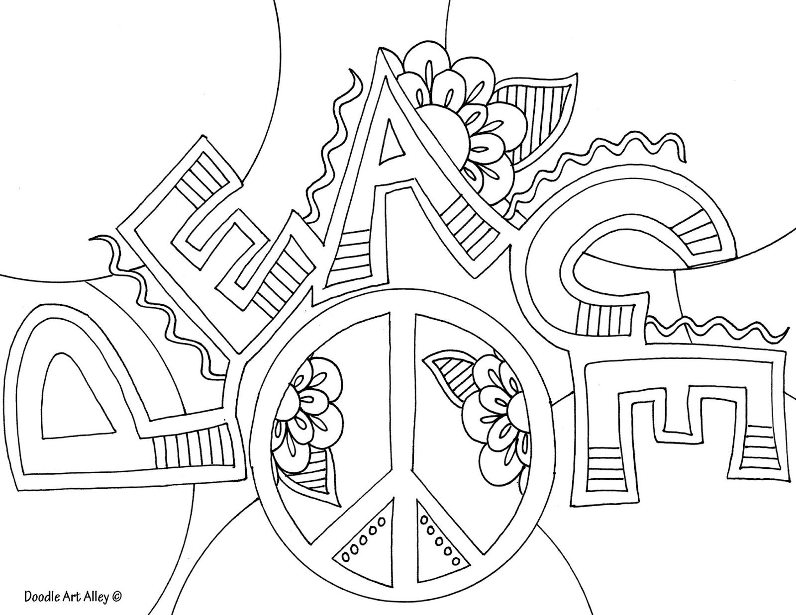 Awesome Peace Coloring Pages for Adults | Coloring pages for Adults ...