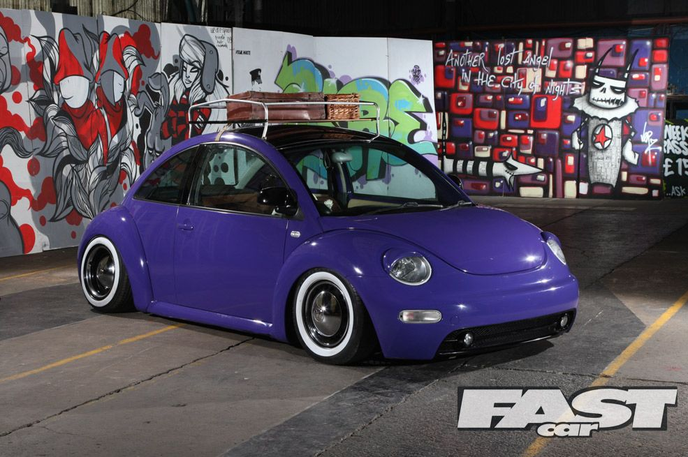 New VW Beetle Blue