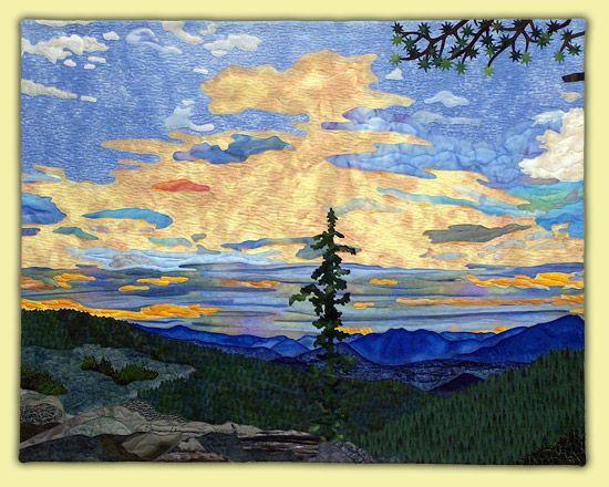 Rocky Mountain Summer Sunrise - Landscapes   Annette Kennedy ... : mountain quilts - Adamdwight.com
