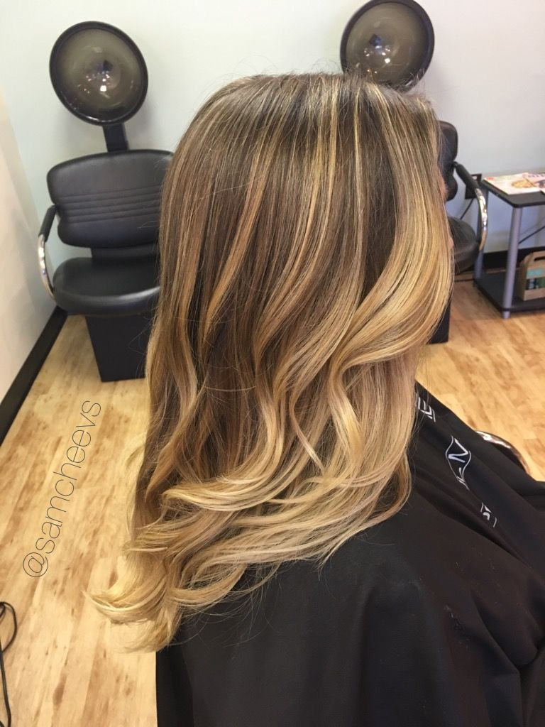 Honey Platinum Baby Blonde Color On Golden Long Dirty Blonde And