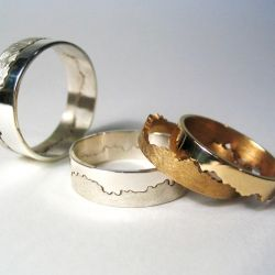 Cool idea for a personal touch custom coastline wedding ring