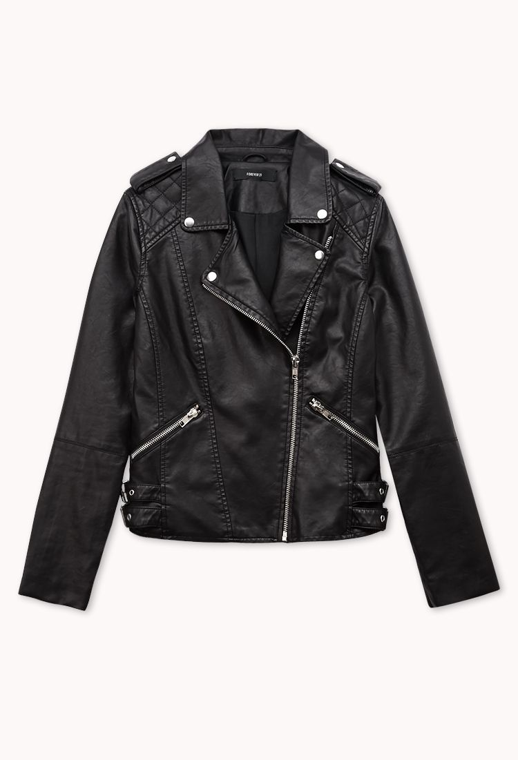 Moto Babe Faux Leather Jacket Forever21 2077225924 Leather Jacket Fashion Faux Leather Jackets [ 1101 x 750 Pixel ]