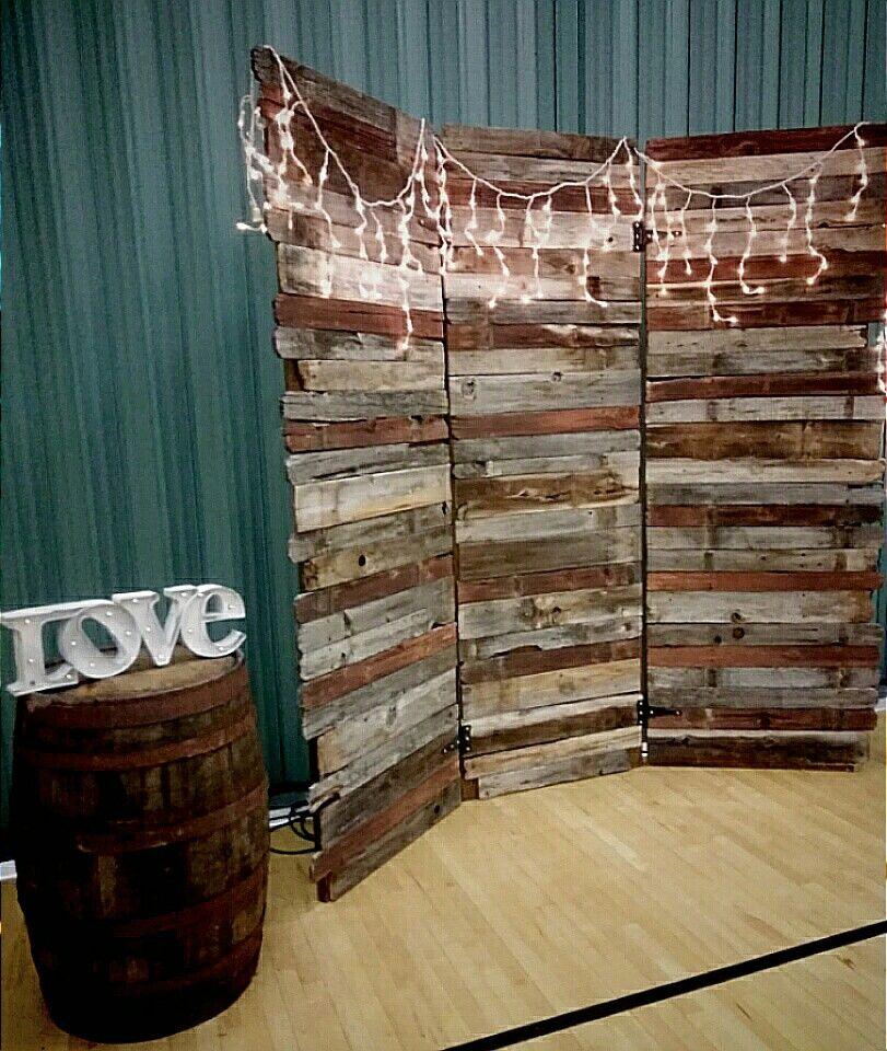 Rustic Door Wedding Ideas: 8 Ft Tall Barnwood Back Drop.