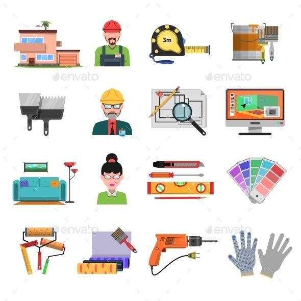 Interior Flat Icons #design Download: http://graphicriver.net/item/interior-flat-icons/12067284?ref=ksioks