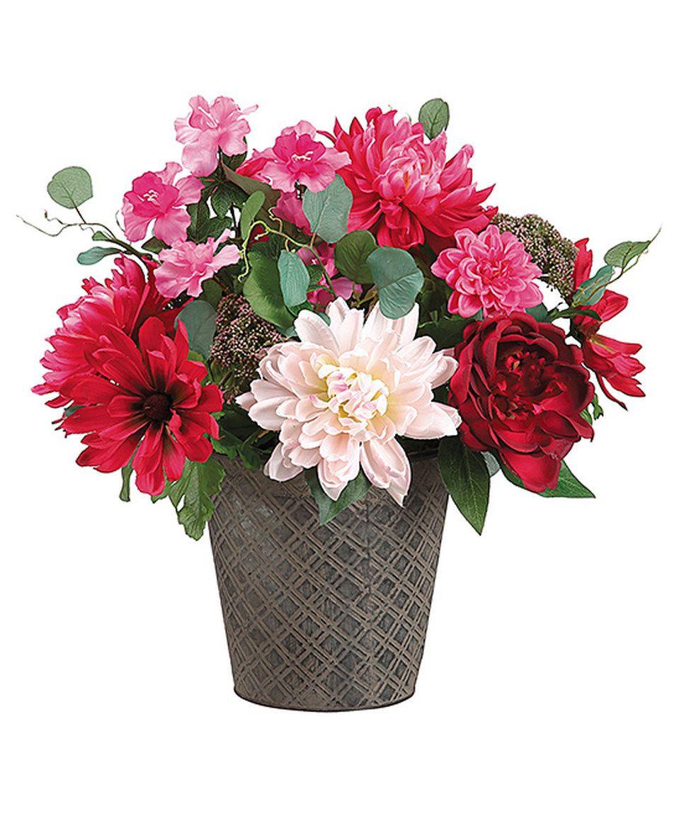Beauty blush dahlia peony potted floral arrangement by allstate beauty blush dahlia peony potted floral arrangement by allstate floral craft zulily izmirmasajfo