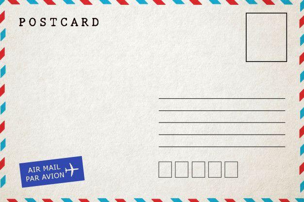 Retour De Carte Postale Vierge Par Avion Carte Postale Carte Carte Vierge