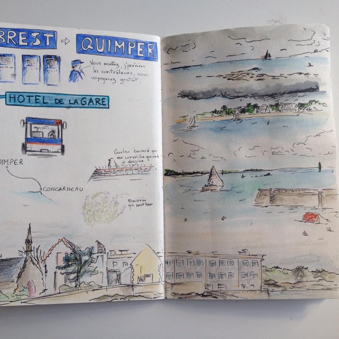 Deux Pages De Mon Carnet De Voyage Mbroca Carnetdevoyage