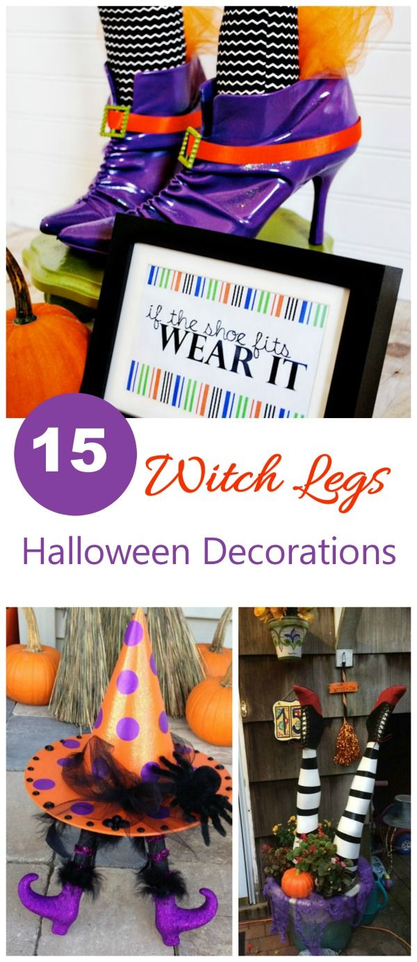 These witch legs Halloween decorations are a fun and whimsical way - Whimsical Halloween Decorations