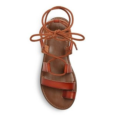 4a3381fbabe Women s Lilac Gladiator Sandals - Mossimo Supply Co. Cognac (Red) 7.5