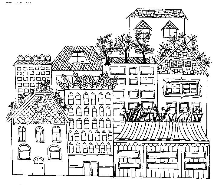 Cityscape San Francisco Coloring Pages Pattern Coloring Pages