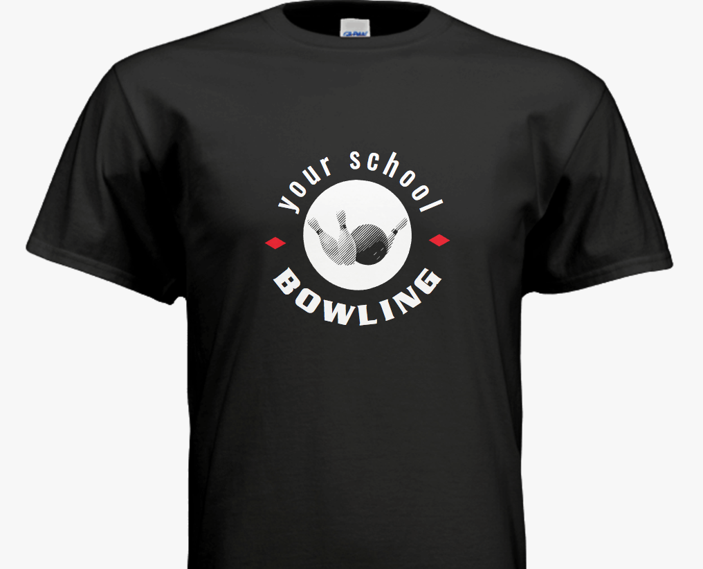 School Bowling Team T Shirts Customize With Your School Name And