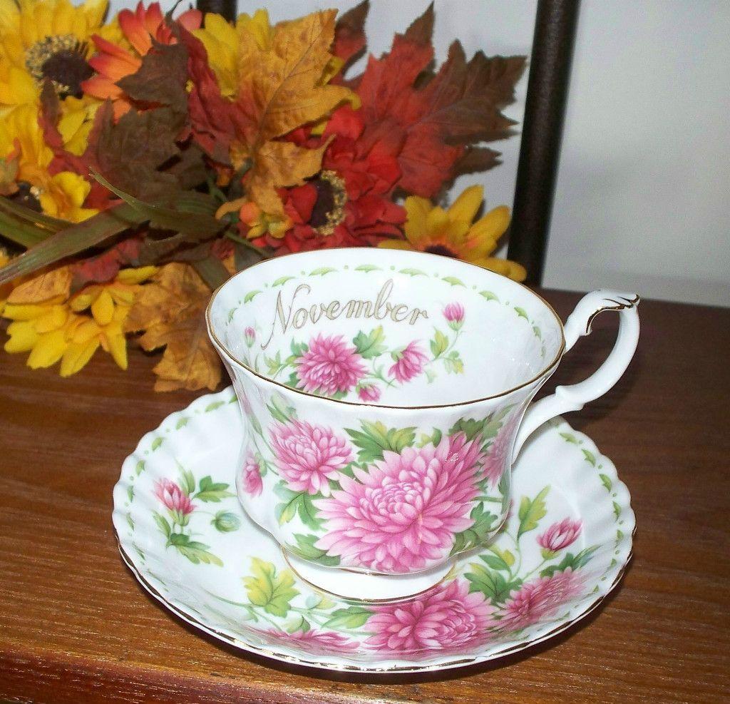 Royal Albert November Tea cups, Royal albert, Royal