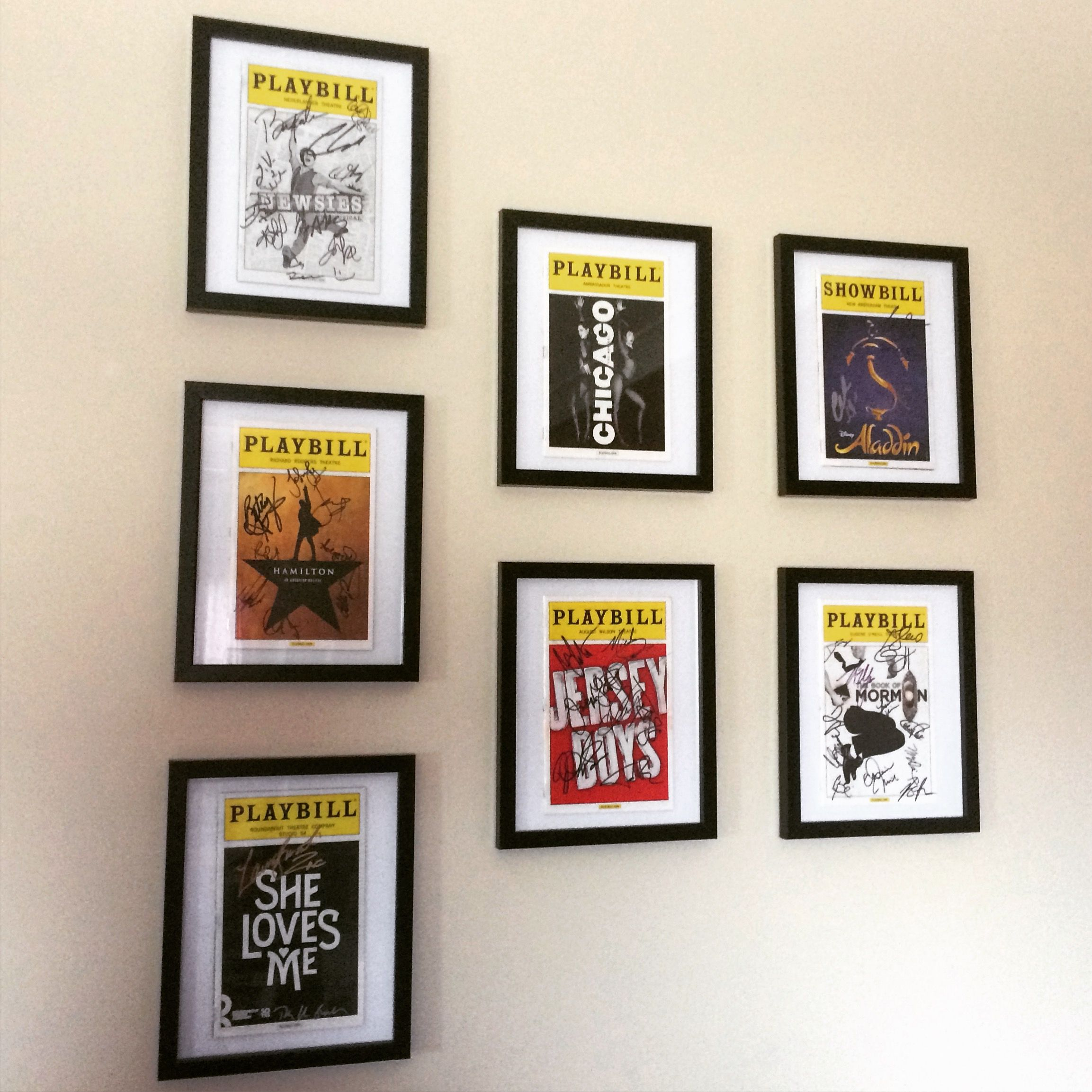 An easy and beautiful way to display your Broadway Playbills! All ...