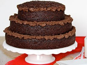 Maegan Brown of The BakerMama shares a rich moist chocolate cake