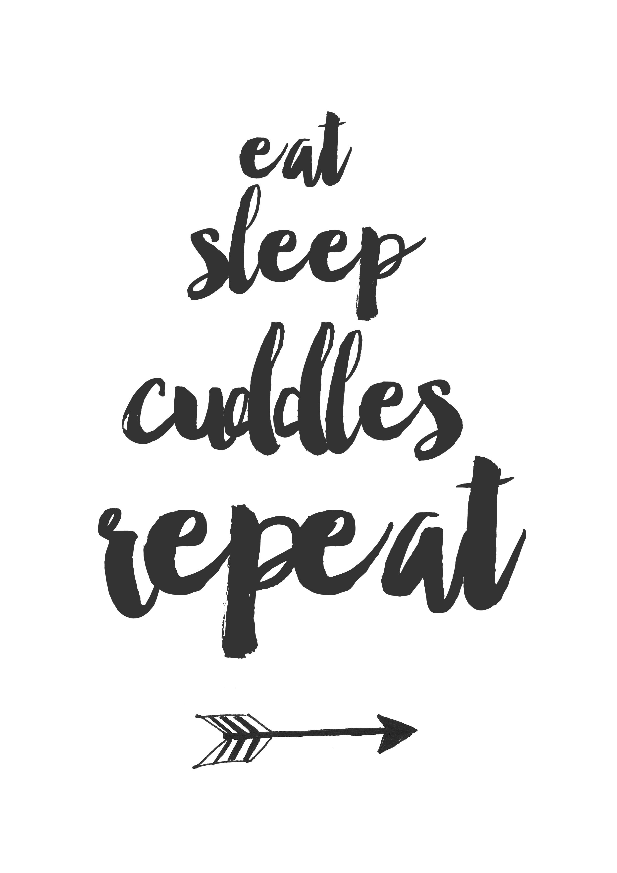 Eat Sleep Cuddles Repeat