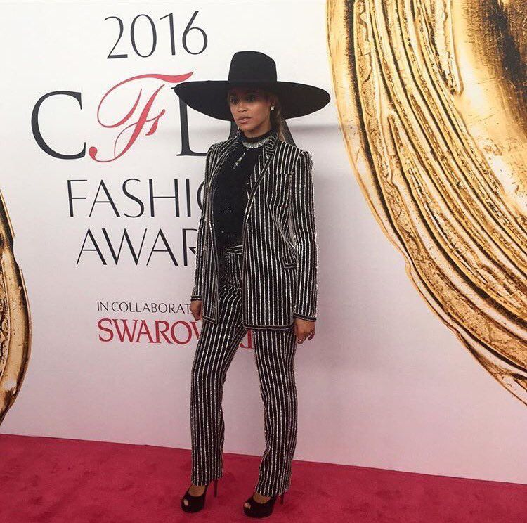 Beyoncé at the 2016 CFDA Fashion Awards at the Hammerstein Ballroom on June 6, 2016 in New York City.