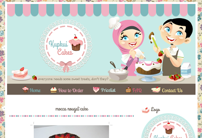 Cute floral pattern, custom graphics menu, and blog banner complete ...