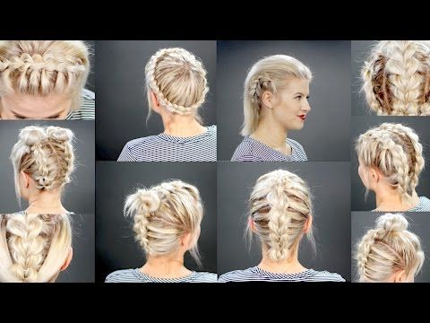 40 Effortlessly Stress Free Diy Hairstyles For Glamorous Short Hair Diy Amp Crafts Braids For Short Hair Short Hair Tutorial Hair Styles