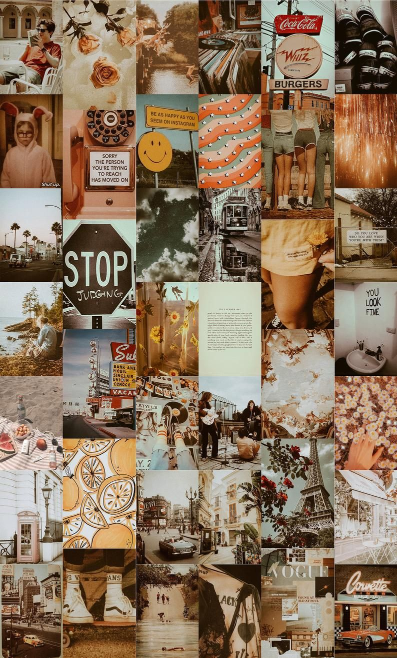 DREAMY Vintage Collage Kit, Vintage Wall Collage Kit, Picture Collage Kit, Retro Wall Collage Kit, Photo Wall Collage Decor, Dorm Room Decor