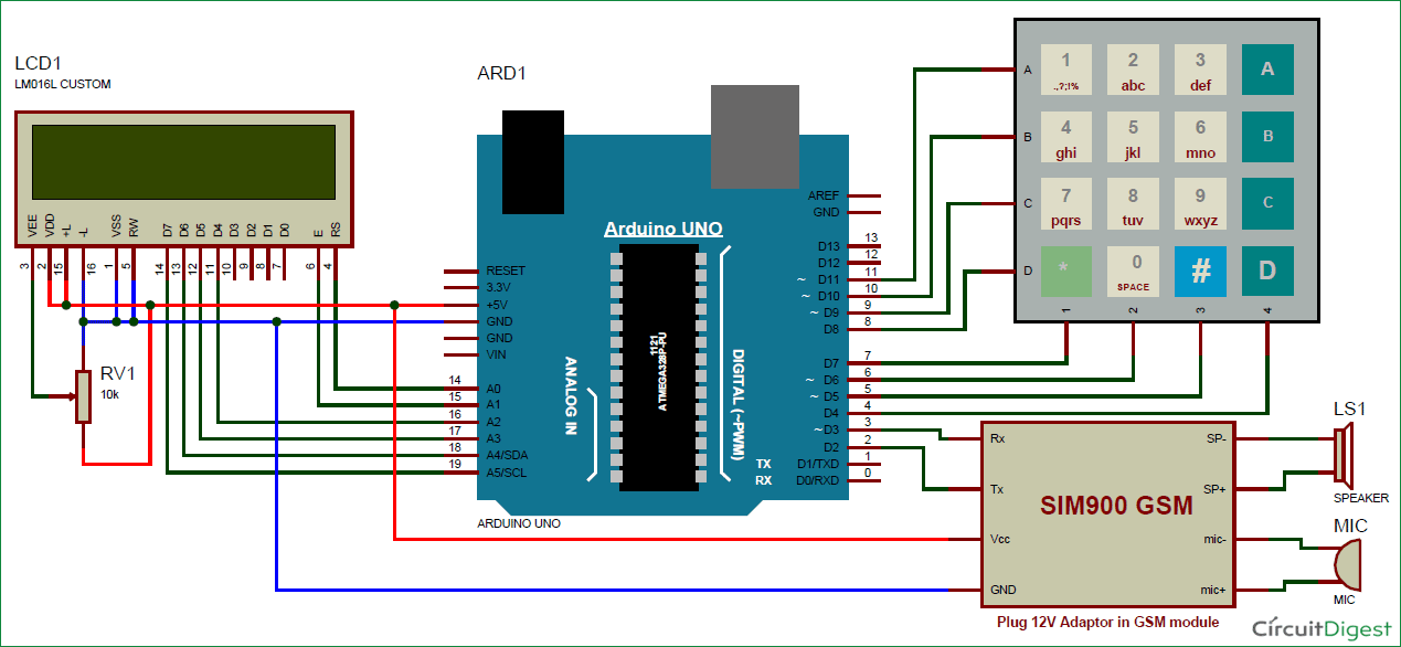 Incredible Call And Message Using Arduino And Sim900 Gsm Module Arduino Wiring Digital Resources Antuskbiperorg