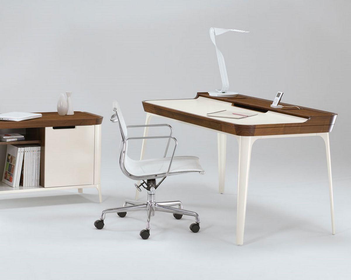 furniture-cool-white-wooden-coated-minimalist-computer-desk-design ...