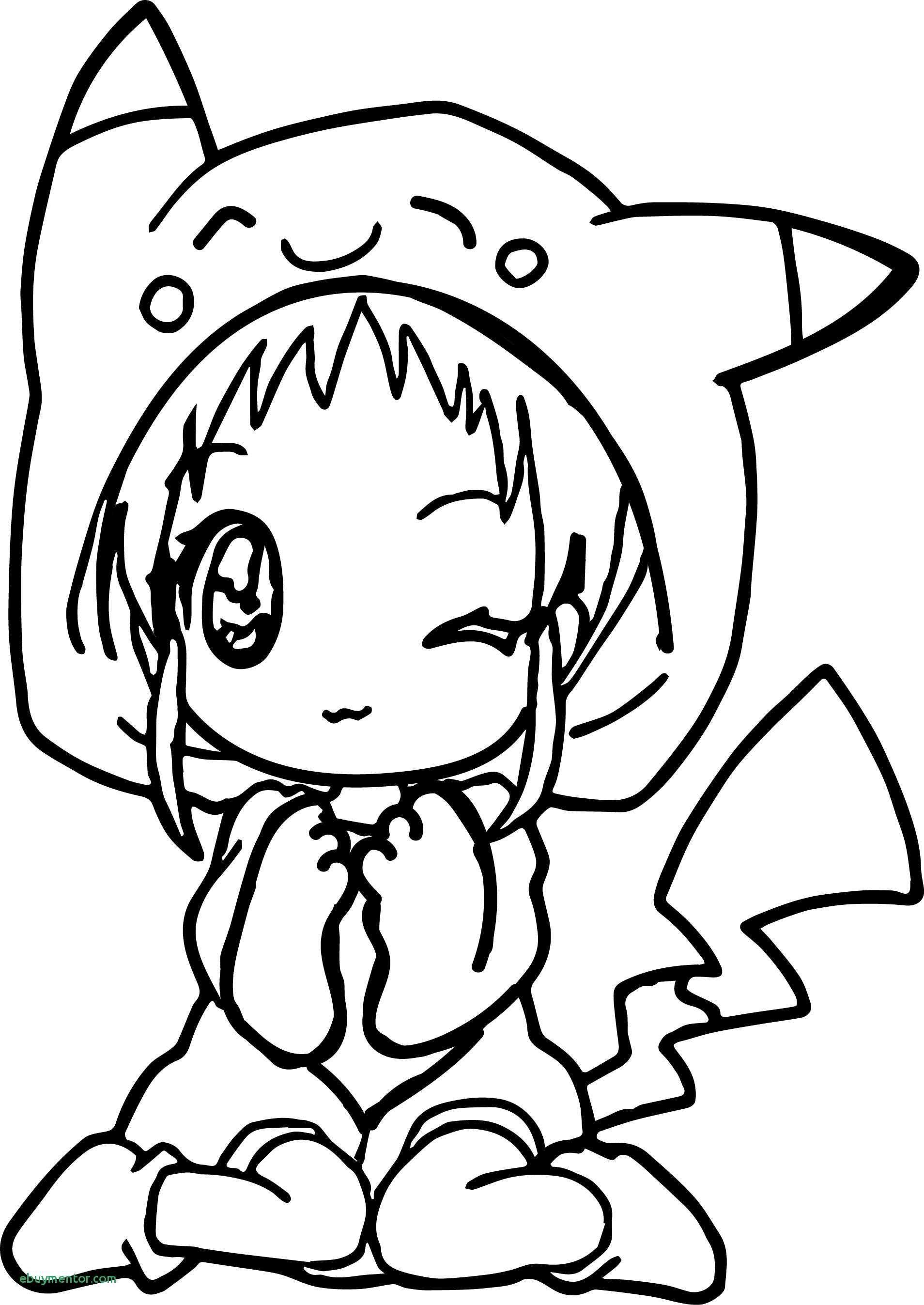 Chibi Pikachu Coloring Pages