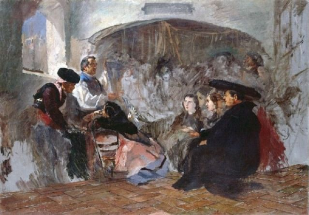Frank Buchser - Auction of Paintings in Seville