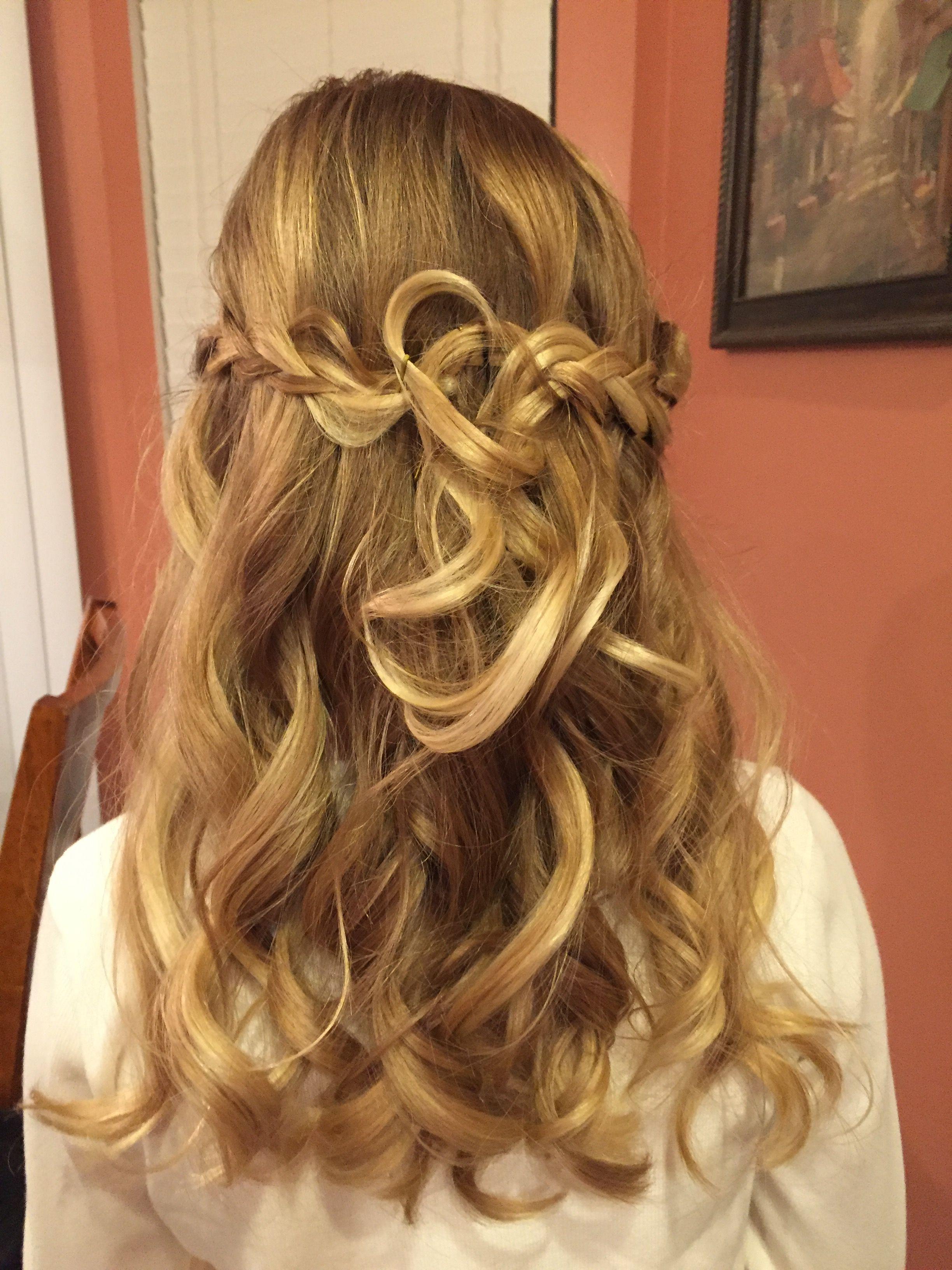 Cute half updo for middle school dance hair pinterest