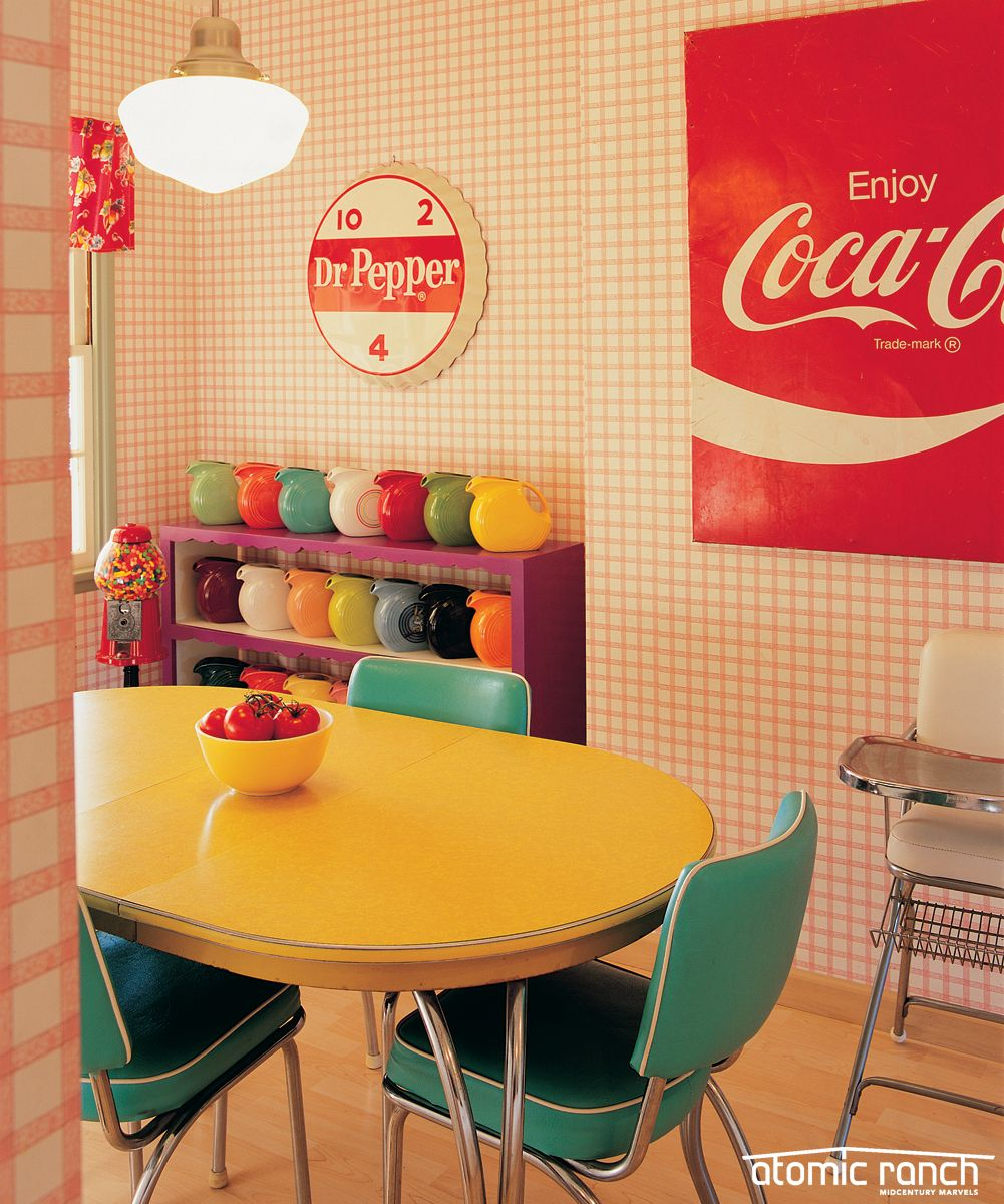 Turn Your Dining Room Into A Colorful Retro Diner In 2020 Retro Dining Rooms Retro Home Decor Retro Room #retro #living #room #curtains