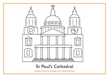 London Buildings To Colour In