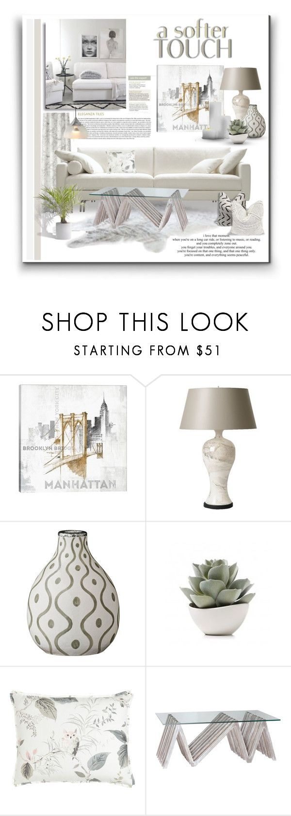 """A Softer Touch"" by signaturenails-dstanley ❤ liked on Polyvore featuring interior, interiors, interior design, home, home decor, interior decorating, Magdalena, iCanvas, Barbara Cosgrove and Lene Bjerre"