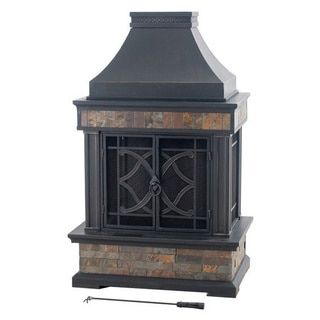 Overstock Com Online Shopping Bedding Furniture Electronics Jewelry Clothing More Outdoor Fireplace Slate Fireplace Natural Gas Outdoor Fireplace