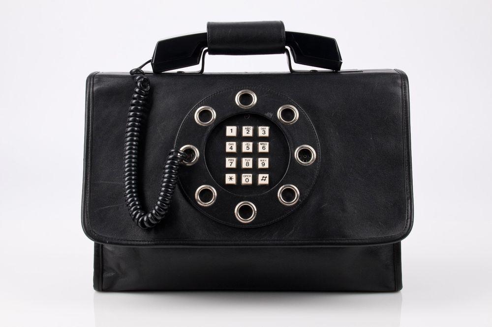 Vtg 1970s Dallas Handbags Black Leather Telephone Phone Hand Shoulder Bag Purse Dallashandbags Should Black Leather Handbags Purses Purses And Bags
