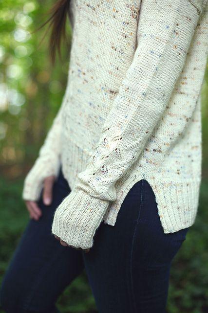 Light Rain ~ Ravelry #knittingsweater #knitting #knitpattern