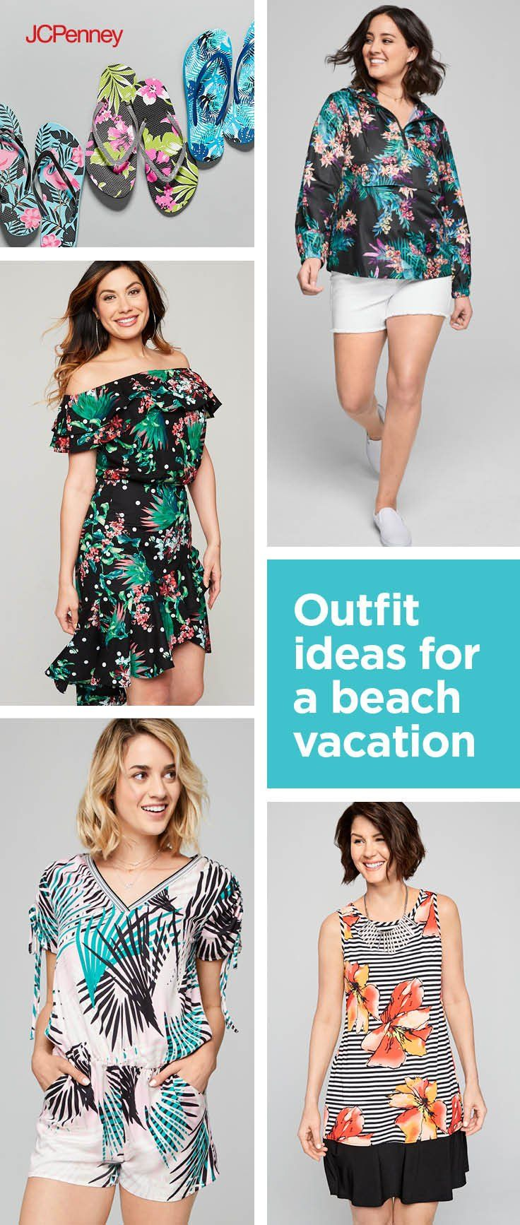 Hit the beach in style with these tropical outfit ideas. Pair a ...