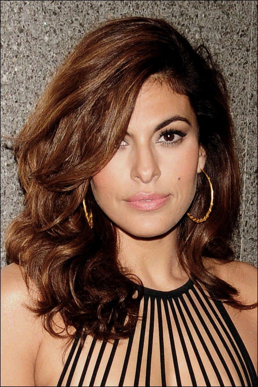 Haircut for oval face female eva mendes hair oval face
