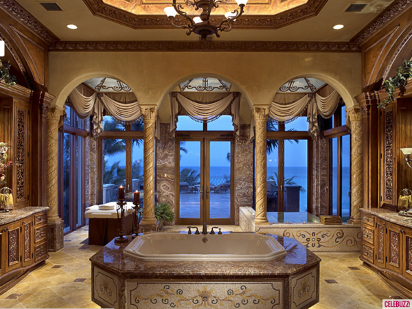 Mansion bathrooms on pinterest luxury swimming pools for Nice houses interior bathrooms