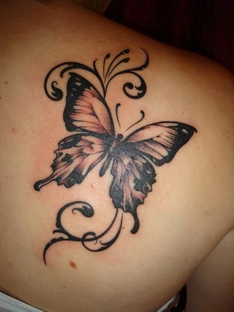 b71e9ceb5 15 Gorgeous Shoulder Butterfly Tattoo Desgns | art | Butterfly ...