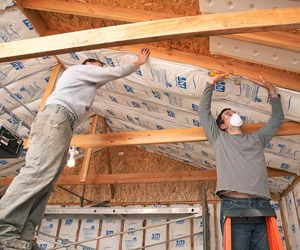 Insulation Never Easier Garage Ceiling Insulation Garage Renovation Finished Garage
