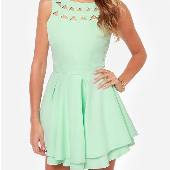 Lulu's Mint Skater Dress(never worn) | Triangles, Colors and Minis