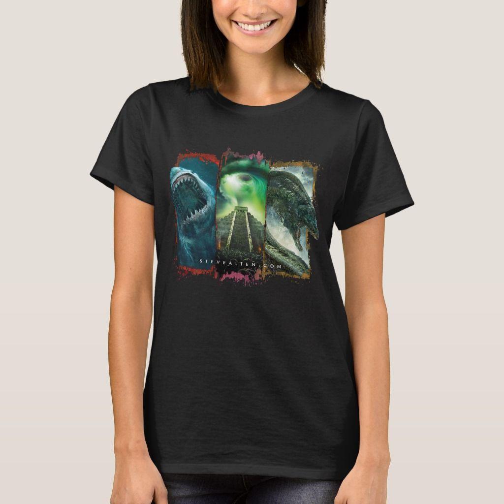 Steve Alten Women's Basic T-Shirt, Size: Adult S, Black