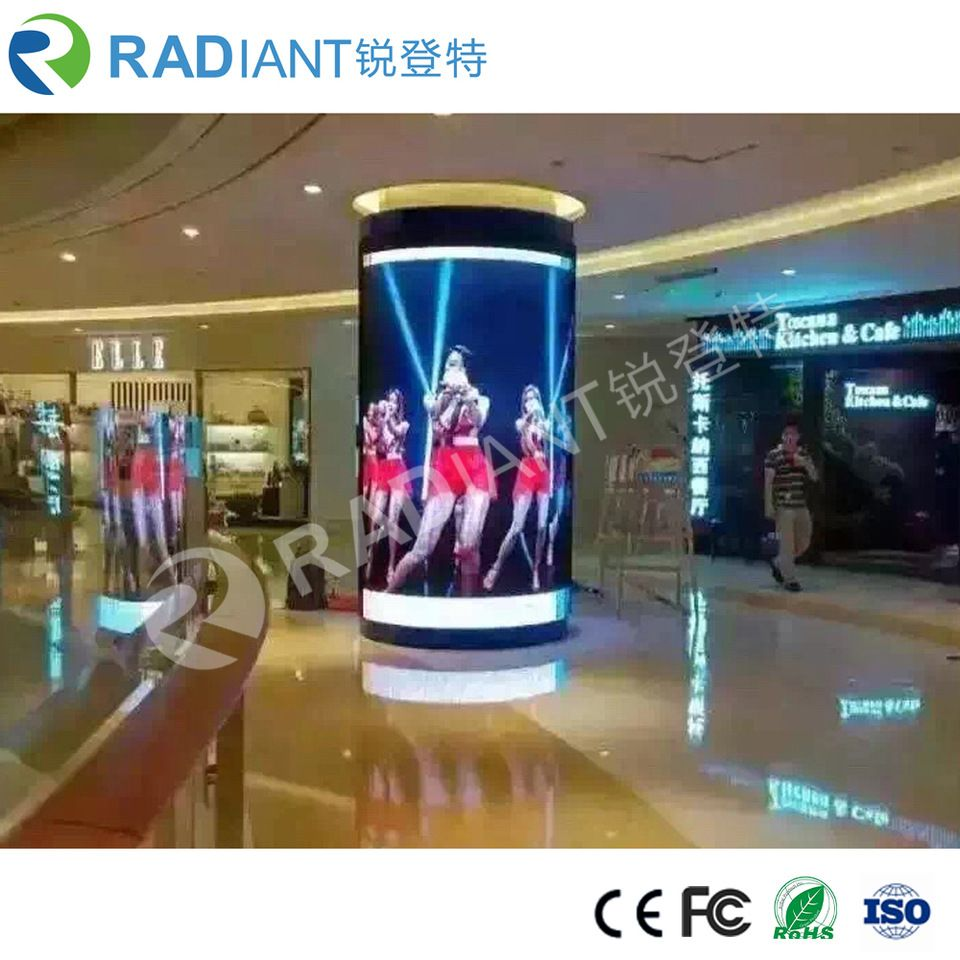 Jb Lighting P6 P6 Flexible Module Video Advertising Curved Cylinder Led Screen