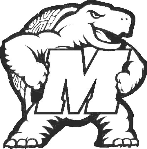 Testudo Logo Jpg 507 514 Football Coloring Pages Coloring Pages Personalized Birthday Banners