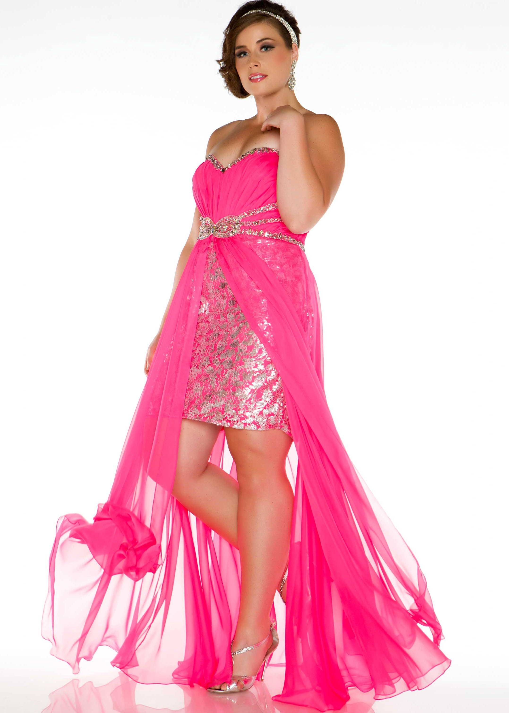 Free shipping on Fabulouss by Mac Duggal 76288F hot pink strapless ...