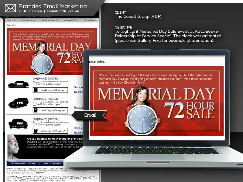 Automotive Email Marketing Campaign By Erin Castillo  Memorial