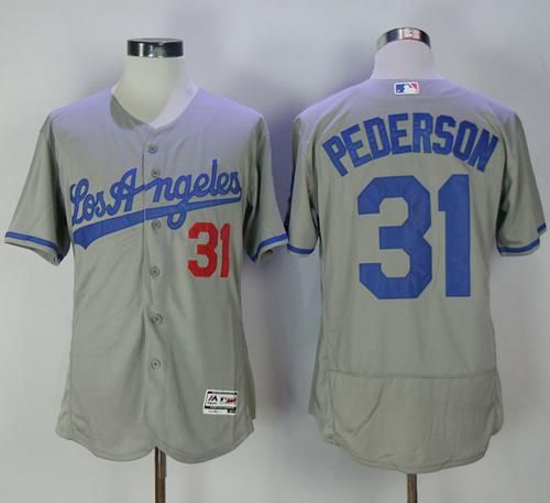 c22541543 Dodgers  31 Joc Pederson Grey Flexbase Authentic Collection Road Stitched  MLB Jersey