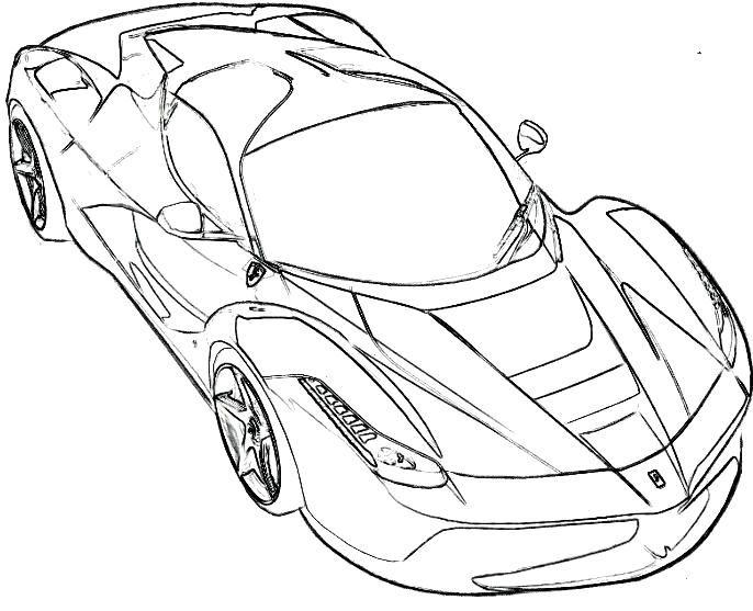 Malvorlagen Ferrari Spider - Ferrari Auto Malvorlagen -