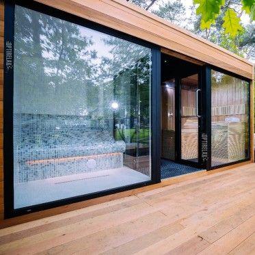 luxus kombisauna indoor outdoor w3 wellness oase pinterest sauna badezimmer und baden. Black Bedroom Furniture Sets. Home Design Ideas