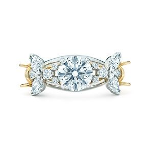 d8b1003eb Two Bees ring in 18k gold and platinum with diamonds by Jean Schlumberger  for Tiffany & Co