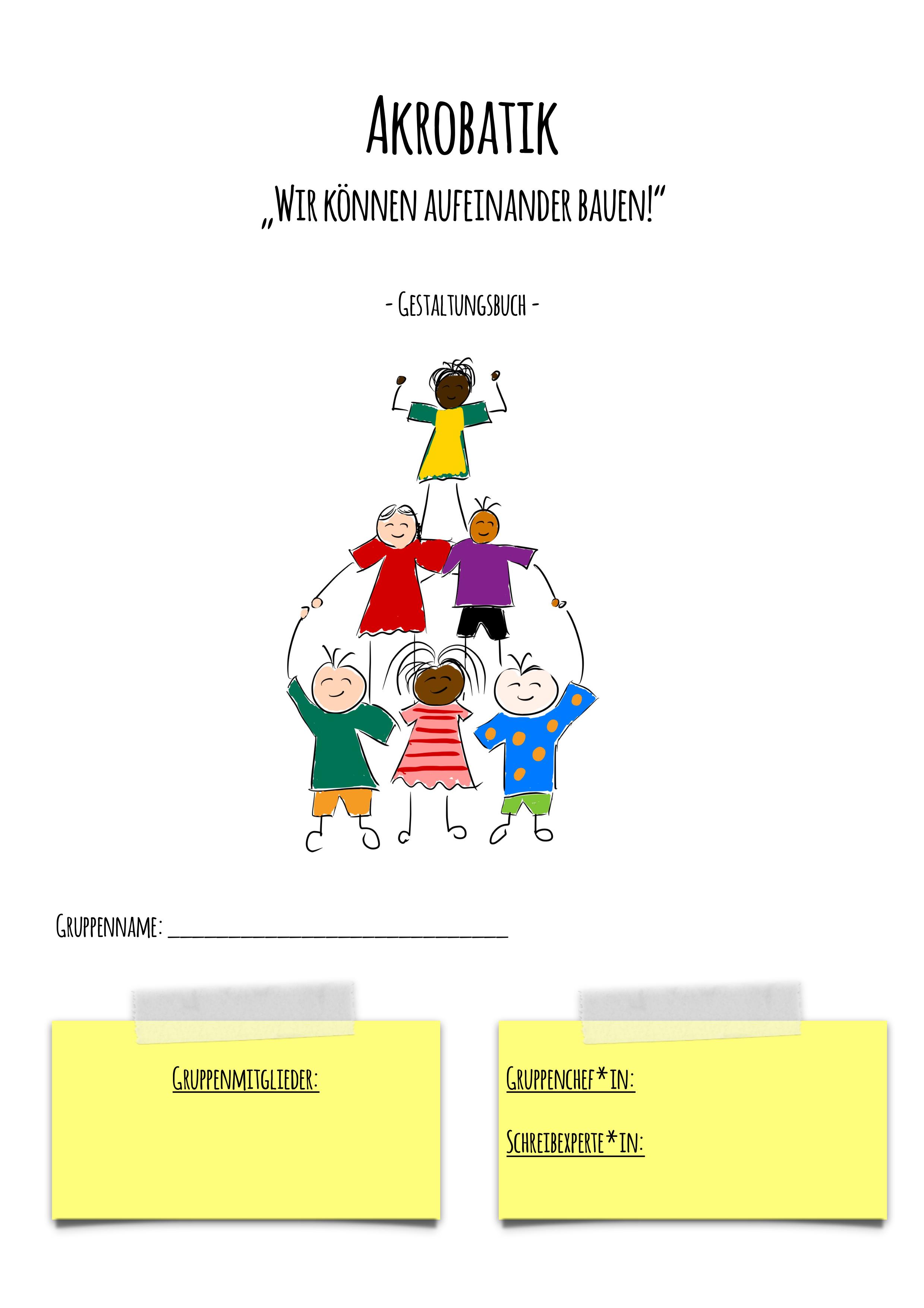 Akrobatik Gestaltungsbuch Deckblatt Unterrichtsmaterial In Den Fachern Fachubergreifendes Sport Bucher Unterrichtsmaterial Deckblatt